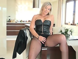 fetish, blond, hd, milf, solo female, stockings