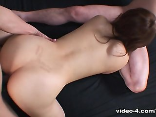 cumshot, creampie, small tits, threesome, asian, japanese