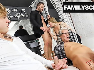cumshot, amateur, hardcore, group sex, creampie, old & young