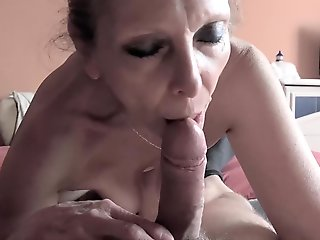 swallow, mature, stockings, french, cougar, straight